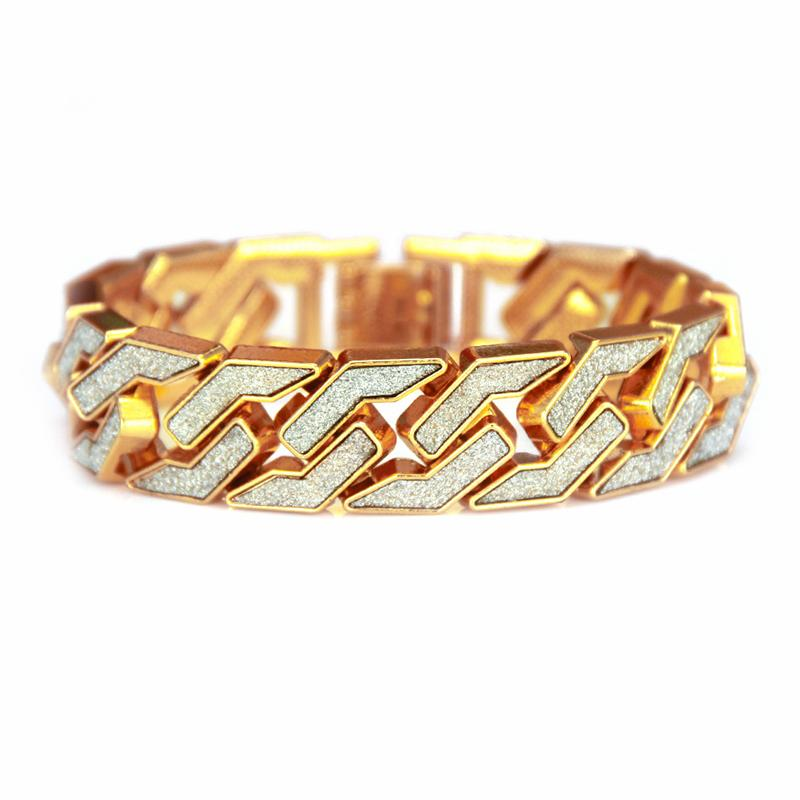 17mm Miami Curb Cuban Bracelet For Men Gold Sier Hip Hop Iced Out Paved Rhinestones CZ Rapper Bracelet Jewelry 8.27 inch Z600