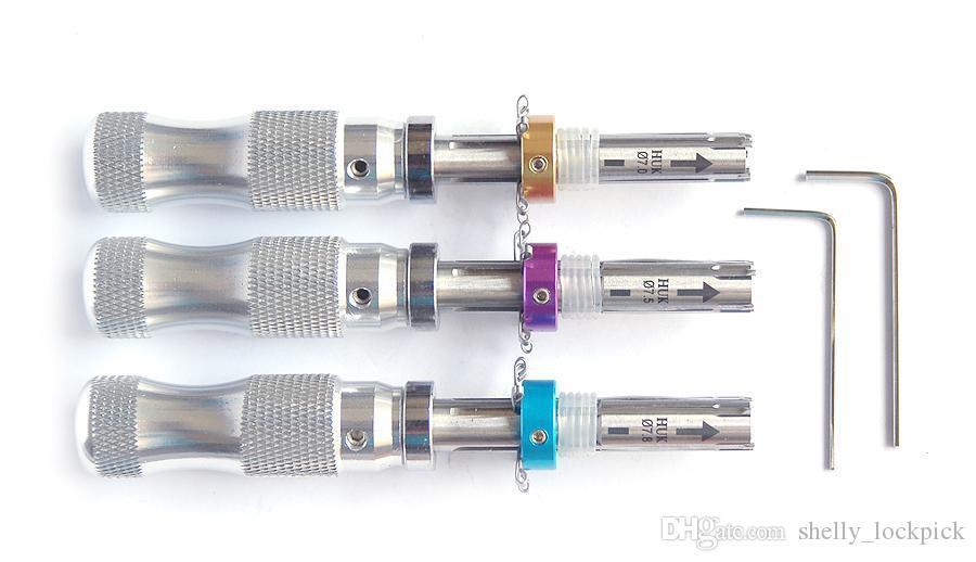 Sıcak Satış HUK 7 Pin Boru Kilit Seçim Çilingir Araçları 7.0mm 7.5mm 7.8mm Uzatılmış Kilit Açacağı Lockpick Set
