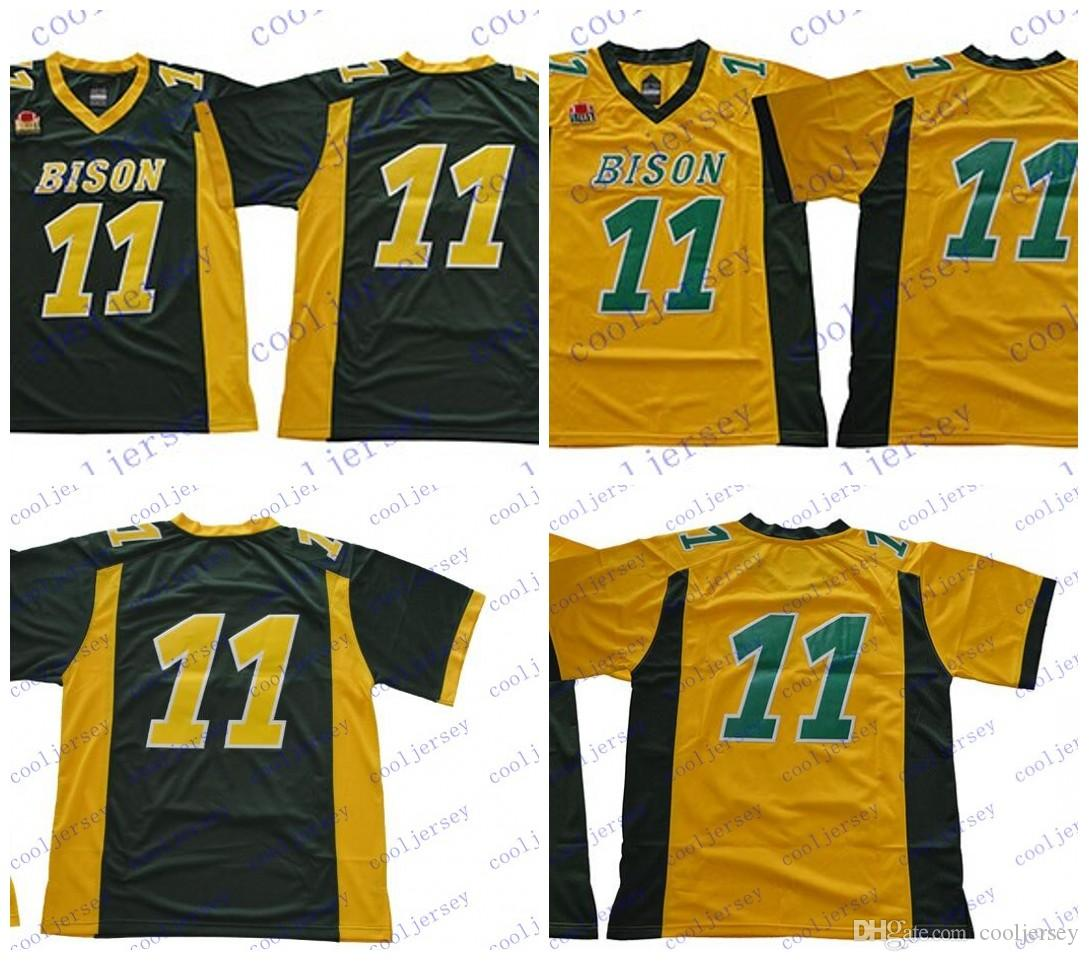NDSU Bison  11 Carson Wentz Jersey North Dakota State NCAA College Football  Yellow Gold Green White Men Women Youth S 3XL UK 2019 From Cooljersey 503a7963d1