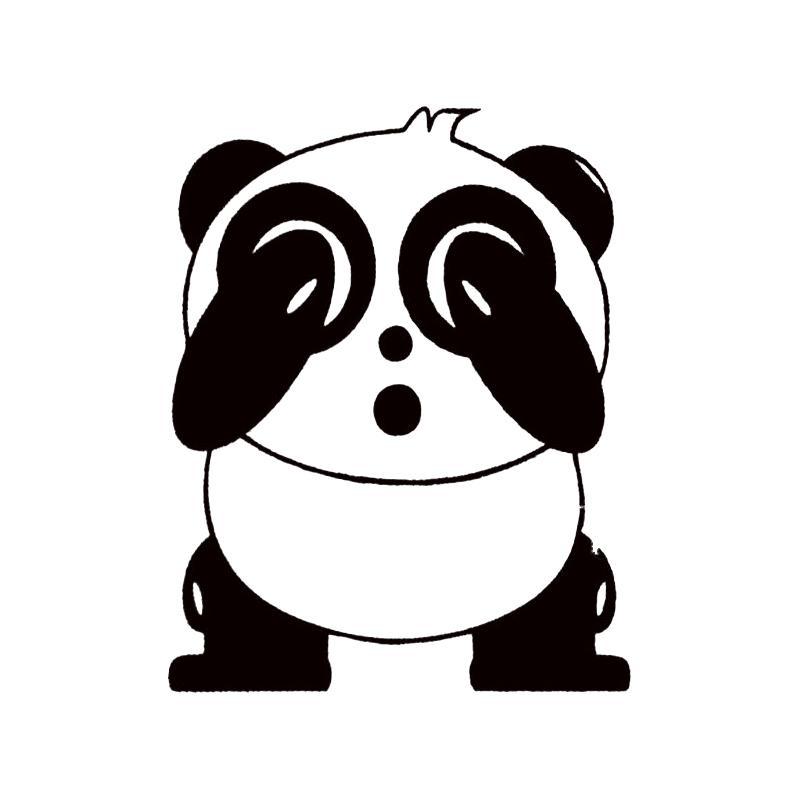 Satın Al Sevimli Panda Araba Kapı Vinil Motosiklet Araba Sticker