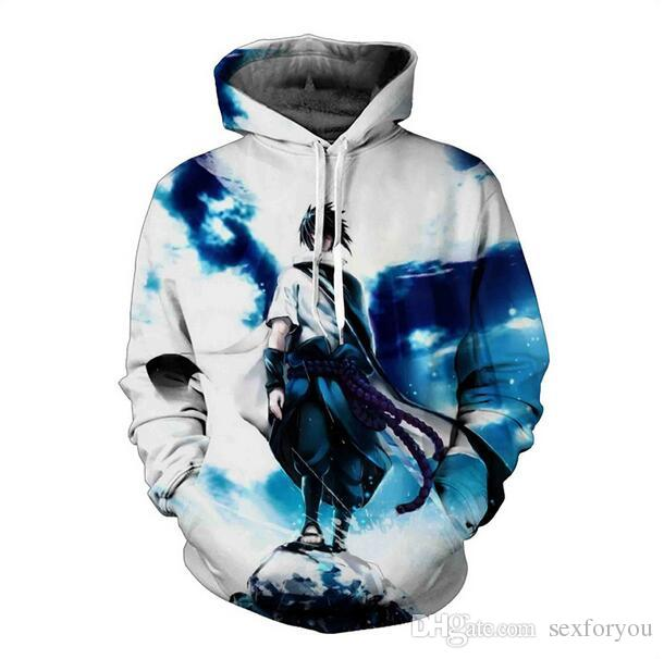 New Sweatshirts Men Hipster 3d Anime Naruto Sasuke Cool Hoodie Male Long Sleeve Outerwear Pullovers One Piece Anime Jacket Men