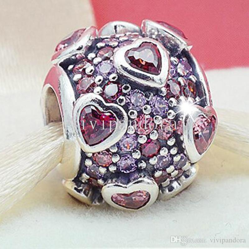 03f7ccbd6 2019 New 100% 925 Sterling Silver Explosion Of Love Charm Bead Fit European  Pandora Style Jewelry Bracelets & Necklaces From Vivipandora, $16.76 |  DHgate.