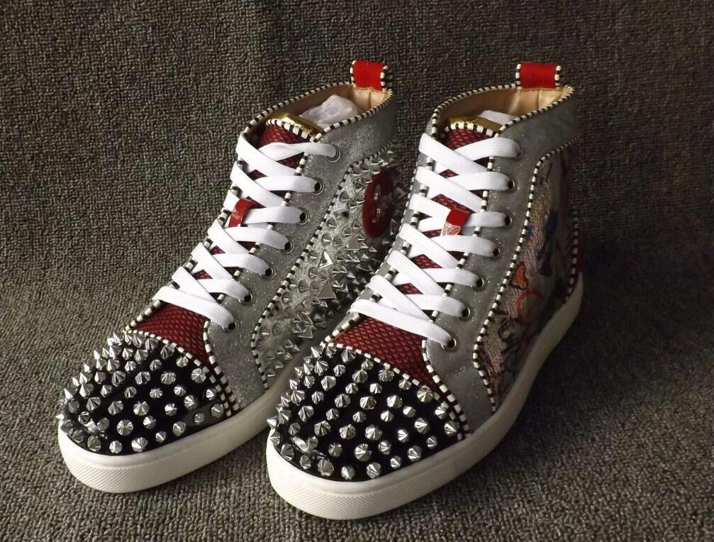 380ec72b22a Original Box New Men Shoes Red Bottom Sneaker Luxury Party Wedding ...