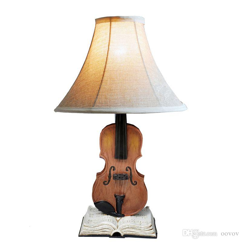 2018 Oovov Creative Violin Bedside Desk Lamps Cute Vintage Kids Room Table  Lights Living Room Decorative Desk Lamp From Oovov, $112.57 | Dhgate.Com
