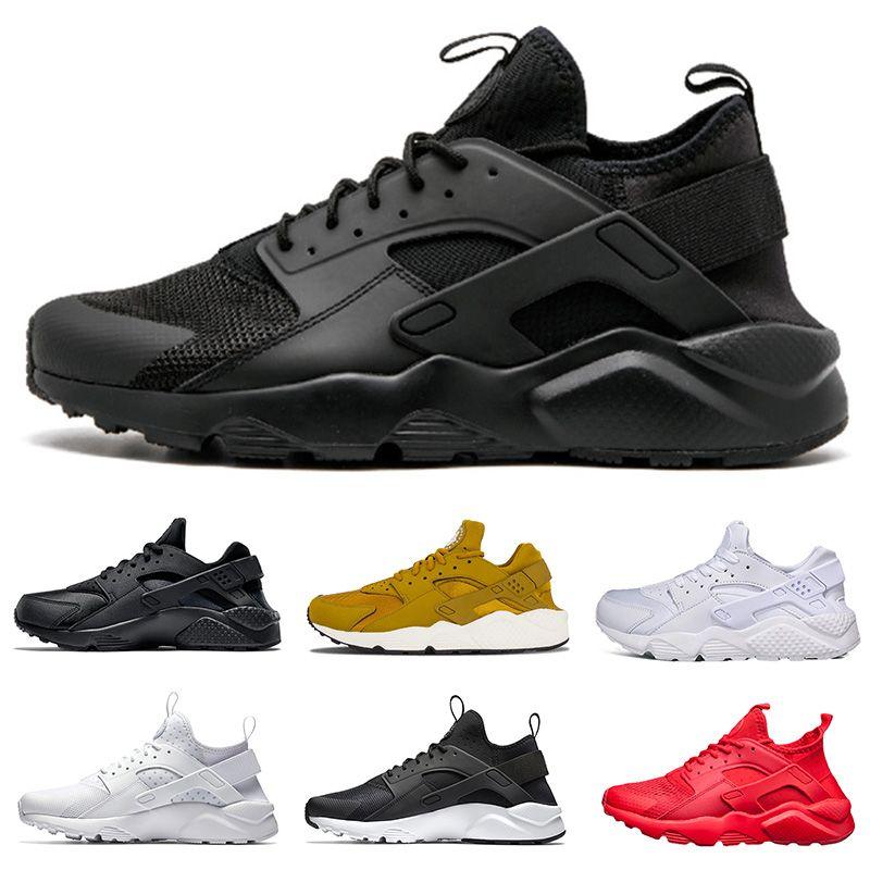 e1595422f9a9 2018 Huarache Running Shoes Triple White Black Red Grey 1.0 4.0 ...