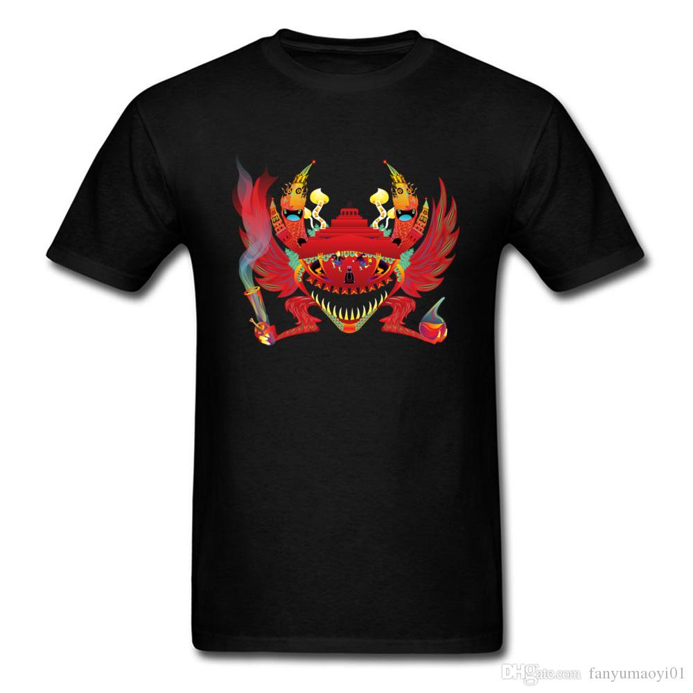 on sale 75fe3 9e940 Big Discount Men T Shirt Psychedelic Kremlin Gremlin Crab Image Tops T  Shirt Natural Cotton Soft Fabric Casual Tee Shirts Men T Shirt Making  Companies 7 T ...