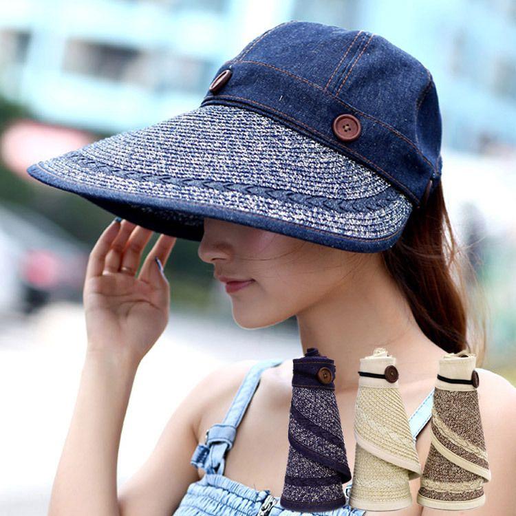 aa5c5bb32cc Women Sun Hat Wide Brim Hat Big Caps Fashion Cap Beach Summer Sun ...