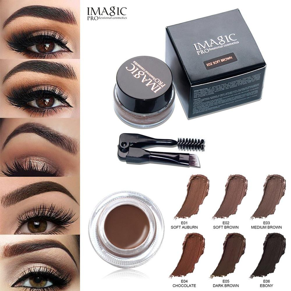 2f35bb2f0c6 Women Eye Brow Tint Cosmetics Eyebrow Enhancers Waterproof Long Lasting  EyeBrow Gel Cream Makeup Brush Pencil Gel Makeup Permanent Eyebrows Semi  Permanent ...