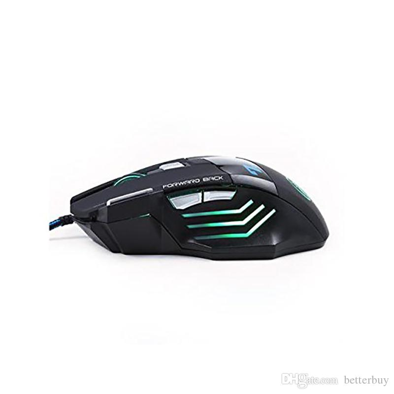 Top Quality Original iMICE X7 Wired Gaming Mouse 7 Buttons 2400DPI LED Optical Wired Cable Gamer Computer Mice For PC Laptop New Hot