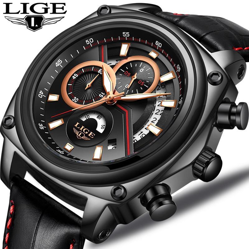 4a02758ab839 2018 LIGE Mens Watches Top Brand Luxury Waterproof Military Sport Clock Men  Casual Business Quartz Wristwatch Relogio Masculino Stylish Watches  Prestige ...