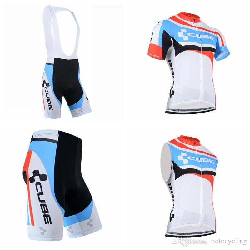 86ee88fa5 CUBE Cycling Short Sleeves Jersey Bib Shorts Sleeveless Vest Sets The  Latest Summer Bicycle Ropa Ciclismo Sportswear Mountain Bike A41322  Mountain Bike Gear ...