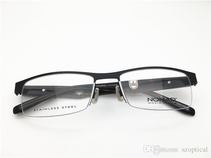71130e95f5f 2019 Marius Morel France Brand Design Men Half Rimless Spring Hinge Top  Quality Optical Frame Spectacle