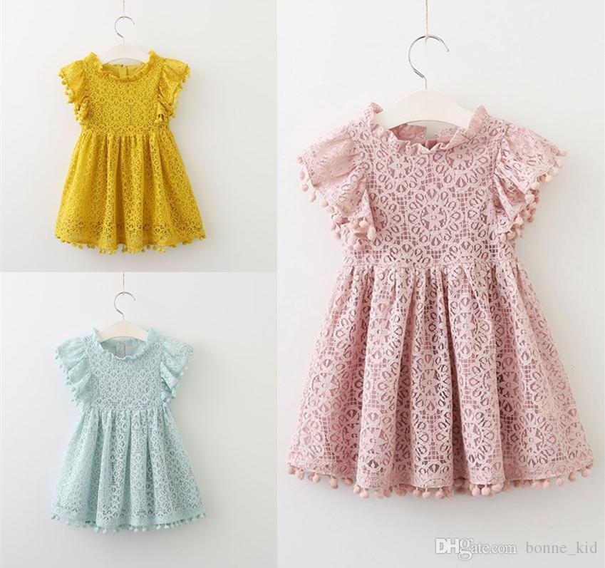 466a50225d9d 2019 2019 Kids Baby Girls Princess Dresses Clothes Pink Blue Color ...