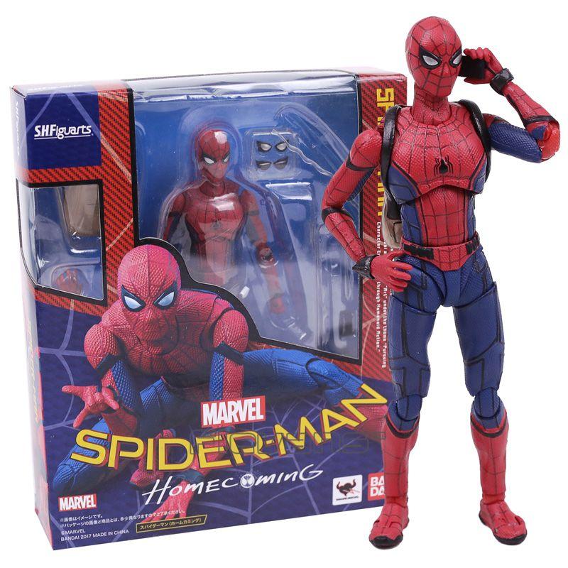 Shfiguarts Menor Man Acción Al Por Modelo Pvc Spider Colección Con Homecoming Spiderman Juguete Figura Caja De shQdtrC