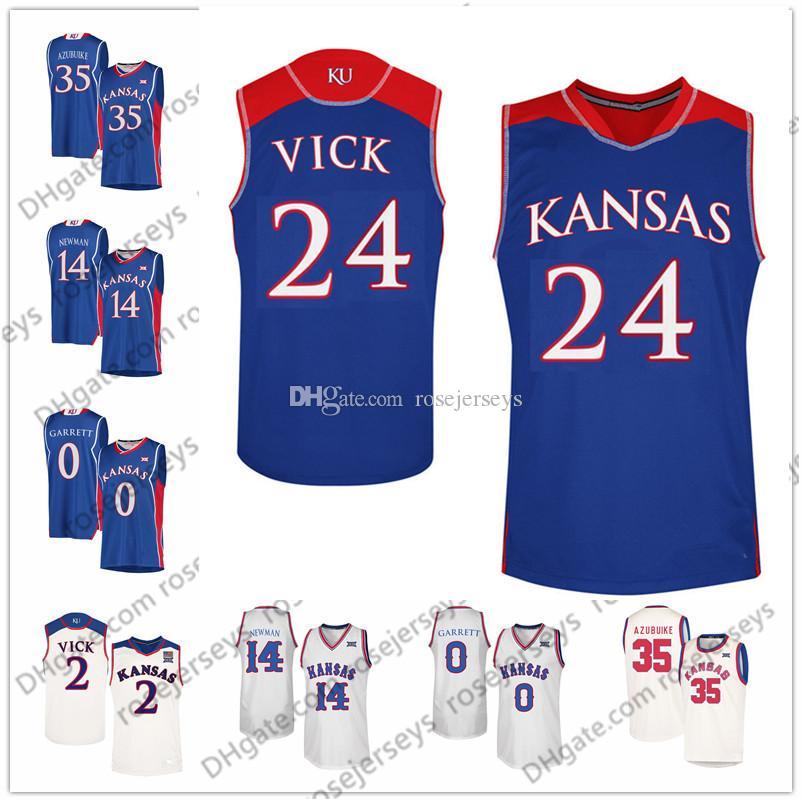 e7533414bdab 2019 Kansas Jayhawks  24 Lagerald Vick 11 Devon Dotson 35 Udoka Azubuike 0  Marcus Garrett College Basketball Blue White Cream Retro Jerseys S 3XL From  ...