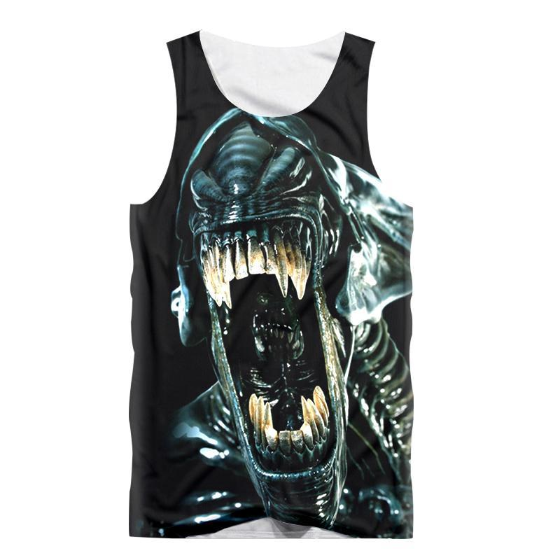 c0c06afe0207d1 Fashion Funny Vest Anime Movie Monster 3d Print Sexy Men Tank Top ...