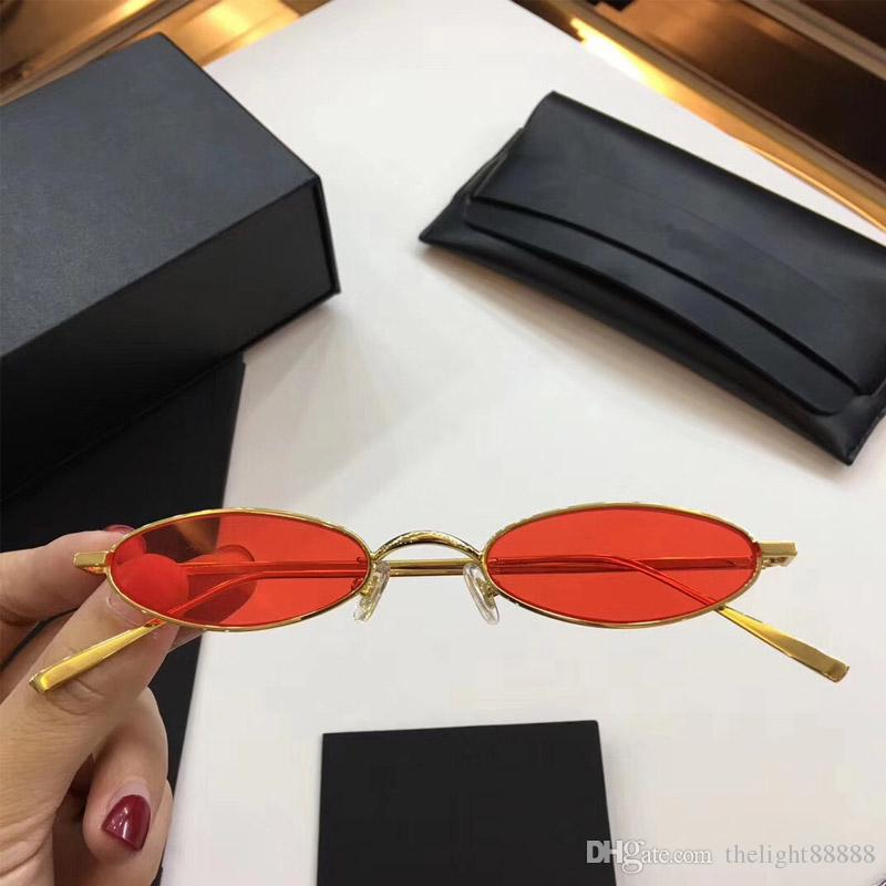The New Luxury Brand Sunglasses Mini Small Round Retro Small Circle Style  Metal Super Light Frame Crystal Lens 0118 Round Glasses Designer Glasses  From ... b7f6af595f