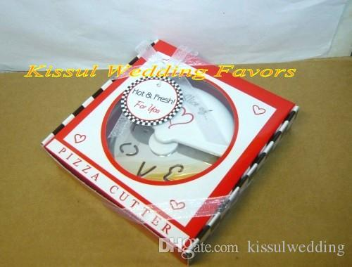 A Slice Of Love Stainless Steel Pizza Cutter Bridal Shower Wedding Favors