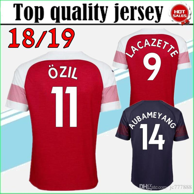cb30d360bd3 2019 New United Jersey 18 19 AUBAMEYANG LACAZETTE Soccer Jersey Home  MKHITARYAN 2018 2019 OZIL XHAKA RAMSEY Away Football Jerseys Shirt From  Jc777888