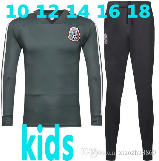 31ad3186dc8 2019 Kids Training Jersey Mexico Tracksuit Training Suit 2018 World Cup  G.DOSSANTOS C.VELA Mexico Track Suit CHICHARITO Football Training Suit From  ...