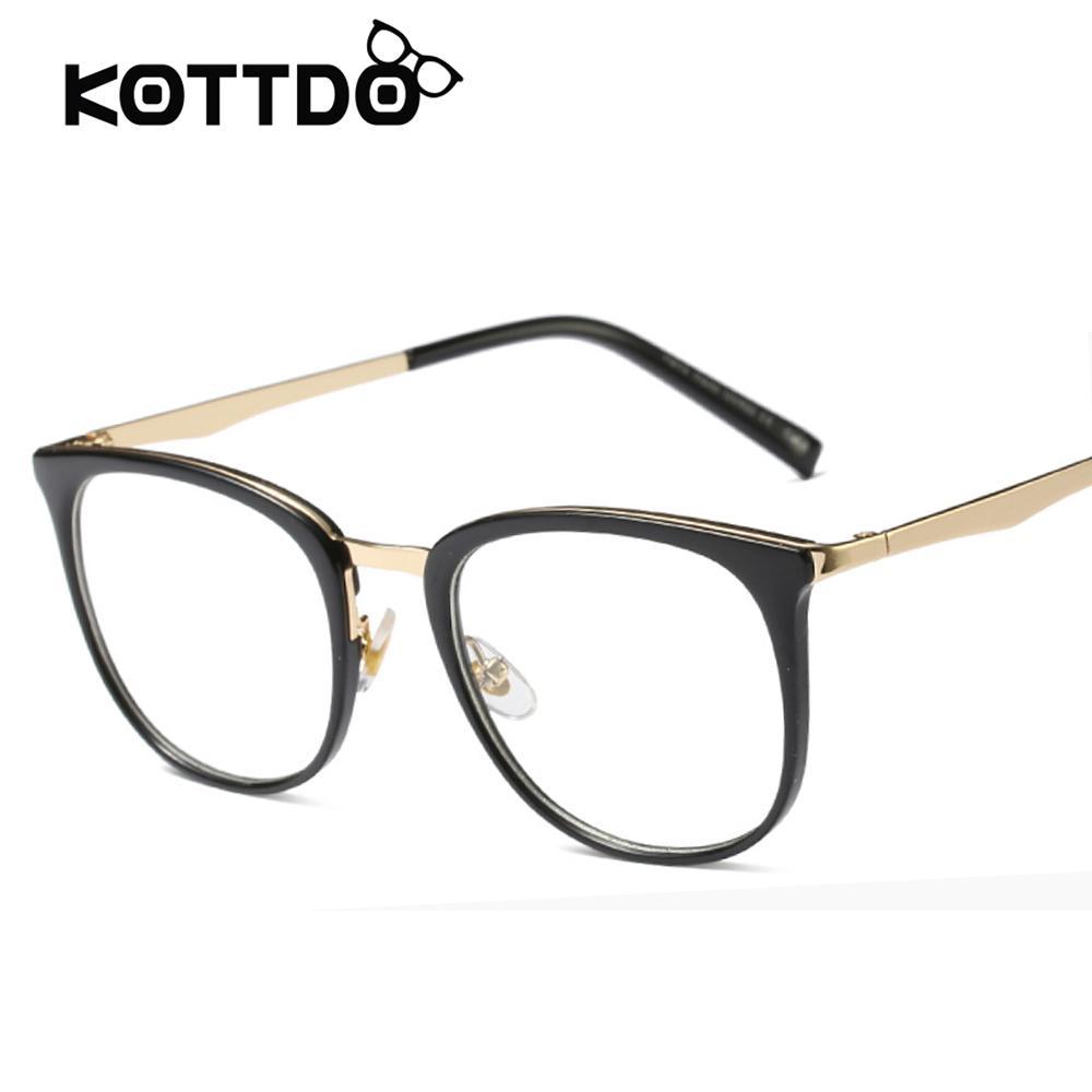 5cb732ed39453 Compre Vintage Square EyeGlasses Mulheres Óculos De Armação De Metal  Leopardo Simples Lentes Óculos Mulheres Designer De Marca Oculos De Grau  Feminino De ...