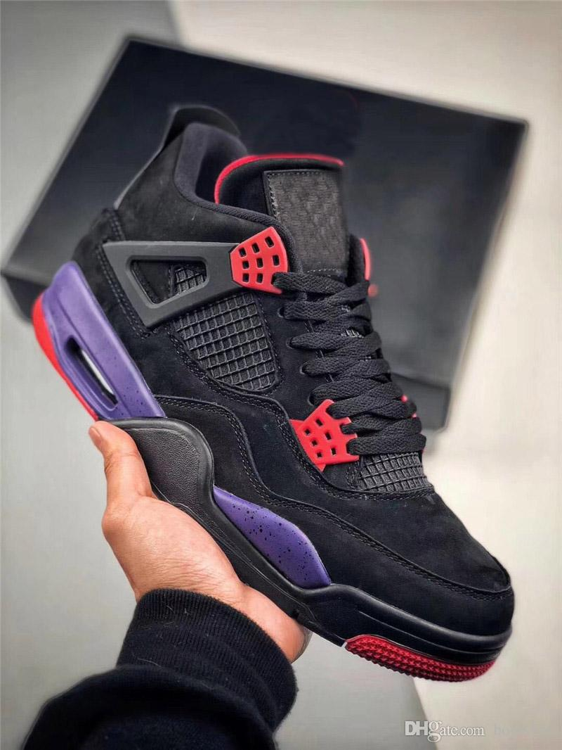 737b42a6b8a320 Authentic 4 Drake NRG Raptors 4S IV Basketball Shoes For Men Black Purple  Red Sneakers 2018 Release AQ3816 056 With Original Box 40 47 Designer Shoes  ...