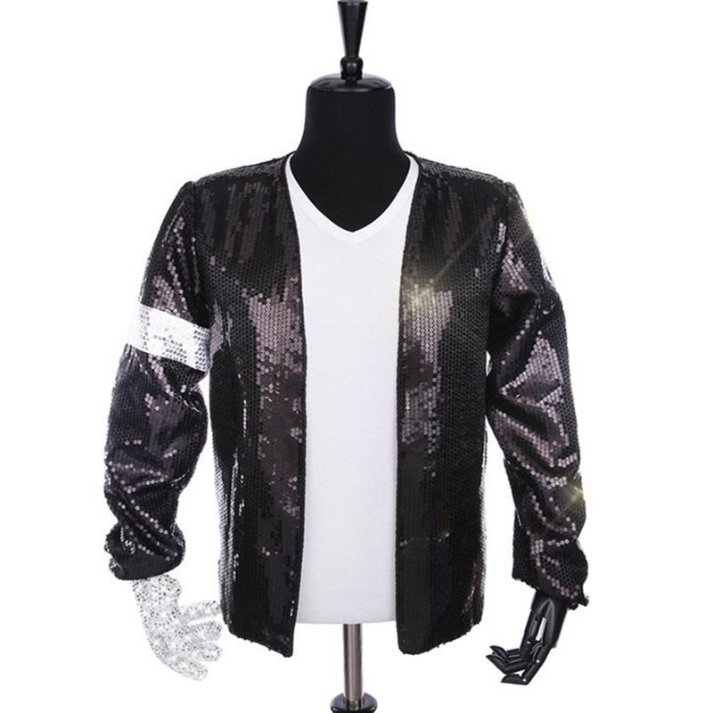 53928b4fe Rare Classic Cosplay MJ Michael Jackson Billie Jean Jacket T-Shirt Glove  Hat Performance Collection