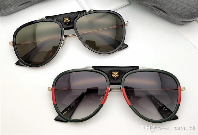 3f8578505 Compre Homens Ouro Verde Piloto Óculos De Sol Ouro Moldura / Cinza Lentes  Sonnenbrille Designer De Luxo Óculos De Sol Óculos De Som Novas Com Caixa  De ...