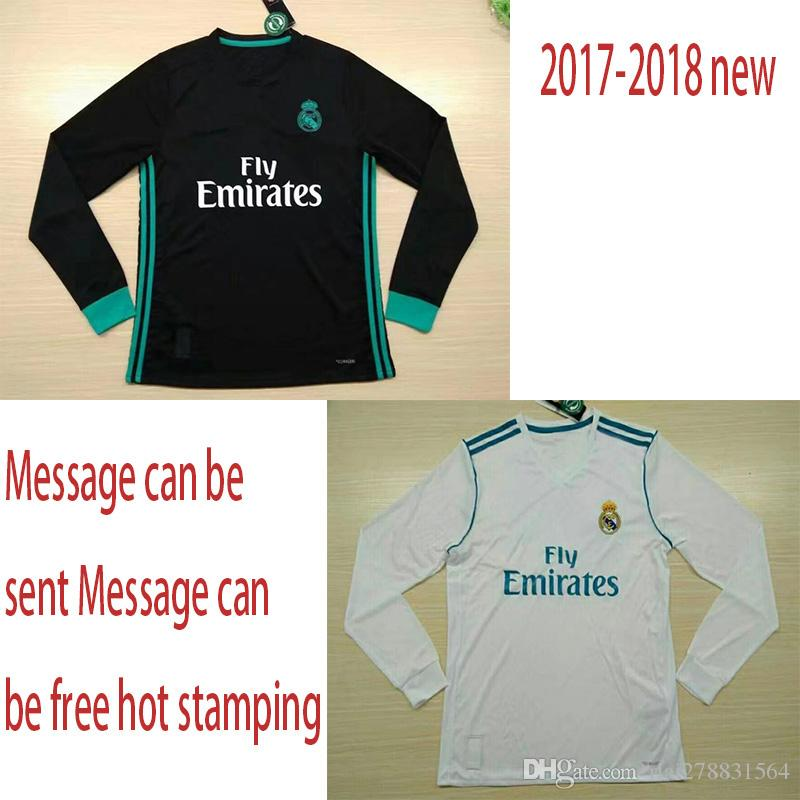 776f0b53938 New Real Madrid Away Black Soccer Jersey 17 18 Real Madrid Long ...