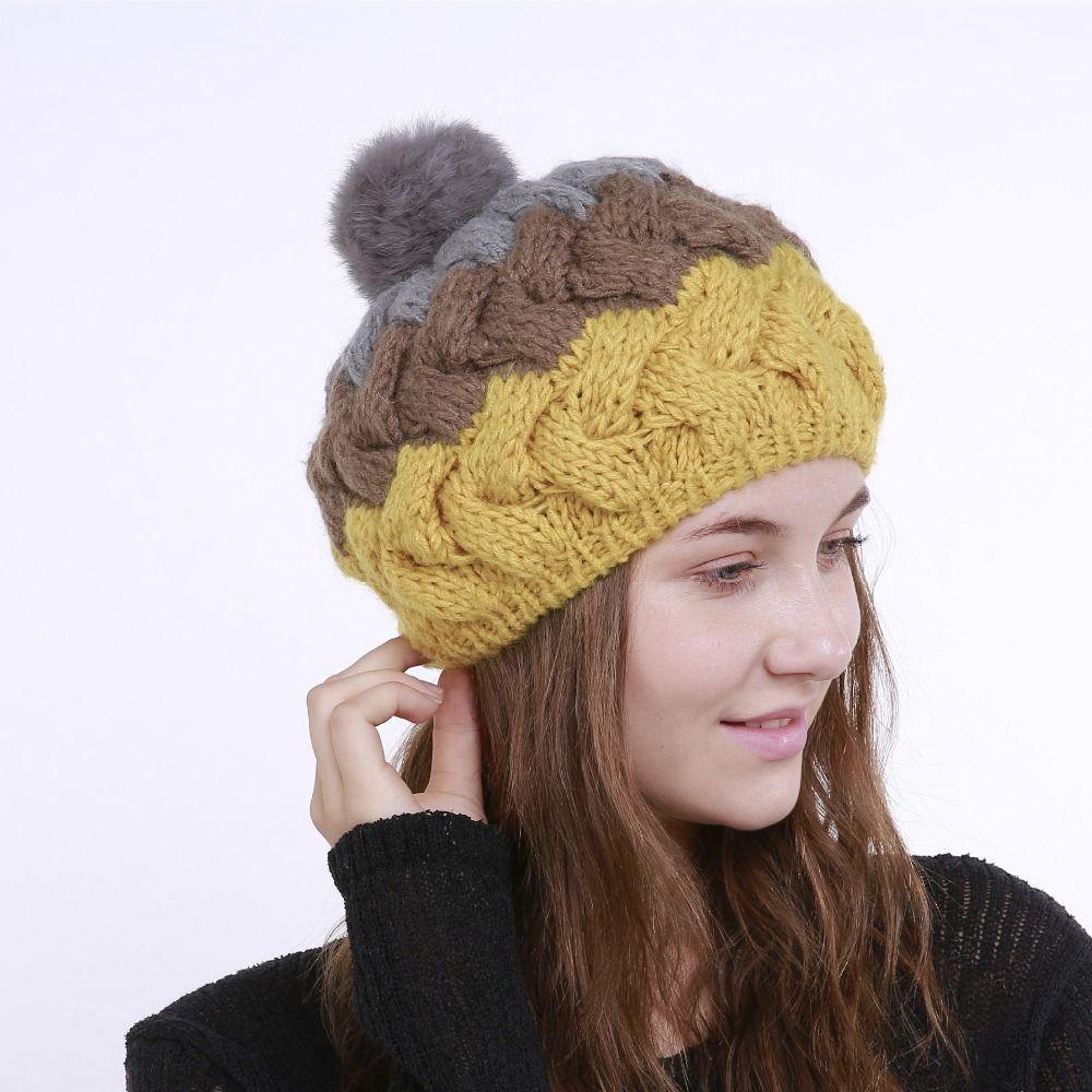 e91a71cbe36 Newest Hot Women Knit Oversize Baggy Slouchy Beanie Warm Winter Hat Cap  Skull Fresh Fashion Autumn Girl Sun Hats Sun Hat From Juemin