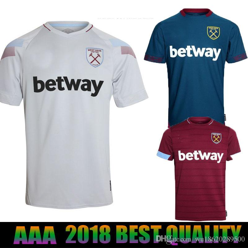 newest collection 7457b 11078 2018 2019 West Ham United Football Jersey Arnautovic Lanzini Snodgrass  Noble Carroll Chicharito Ayew Home Away third 18 19 Soccer Shirt