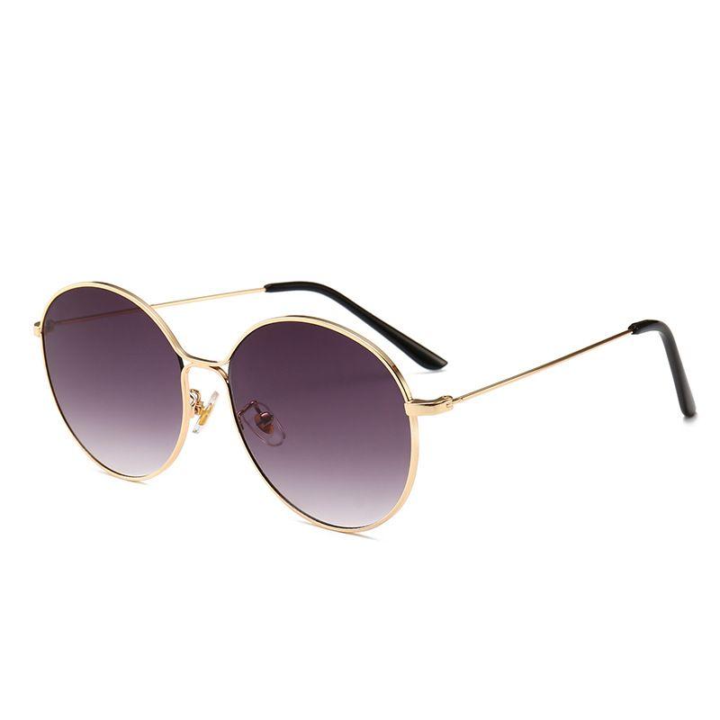 acheter bien rechercher le dernier taille 40 2018 Hot Classic lunettes de soleil rondes pour hommes femmes lunettes de  soleil à monture métallique Steampunk Goggle 6 couleurs lunettes de soleil  à ...