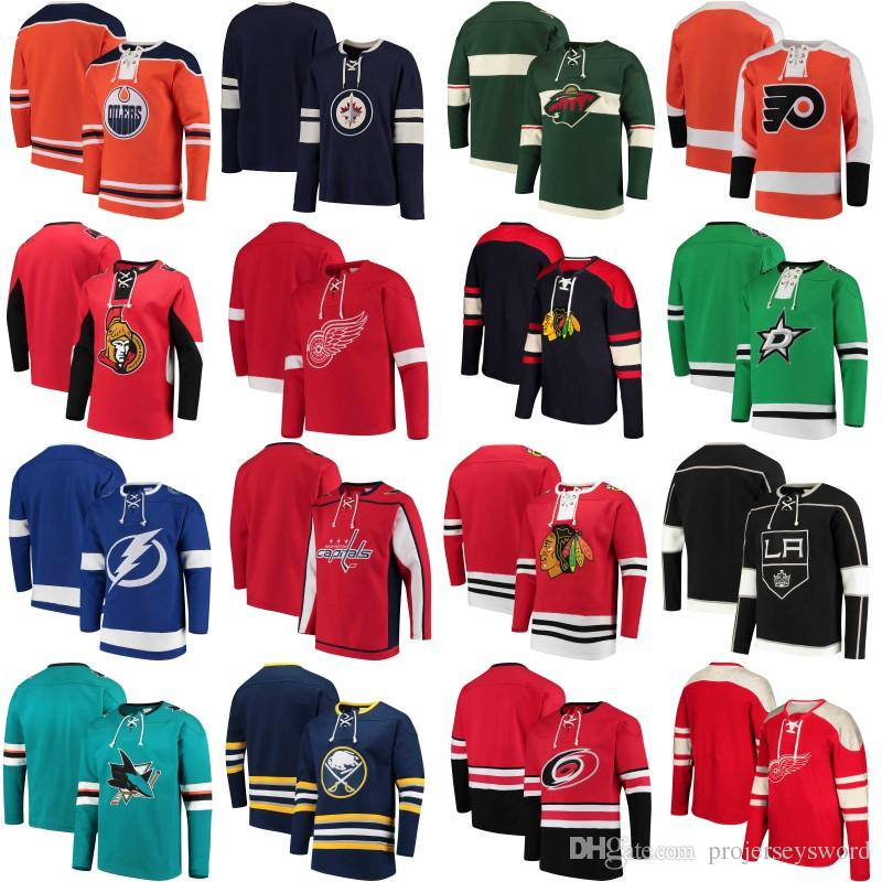 2019 2018 No Hat Hoodies Jersey Minnesota Wild Chicago Blackhawks Ottawa  Senators Edmonton Oilers Carolina Hurricanes Dallas Stars Jerseys From ... c2fda7c9f