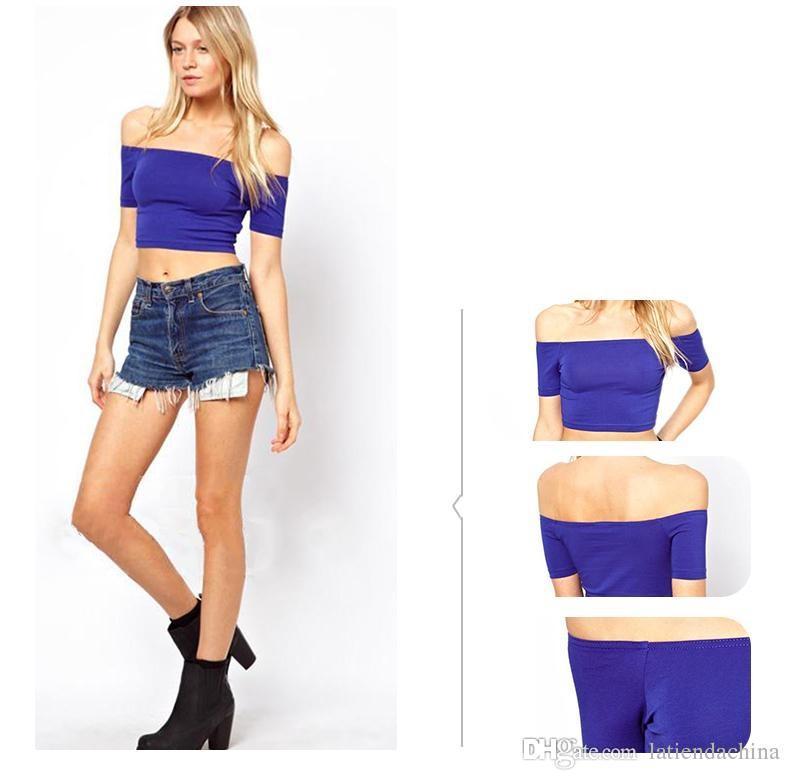 Schräghalsausschnittart und weisehemd Sommerhemdkurzes T-Shirt Normallack dünnes kurzes T-Shirt Kurzhülse Frauen