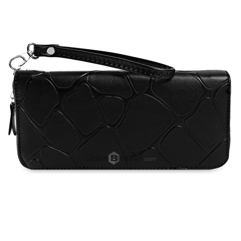 d5f232041a Guapabien Brief PU Leather Zip Around Hand Strap Women Clutch Black Wallets  Purse Card Holder Online with  7.78 Piece on Topseng s Store