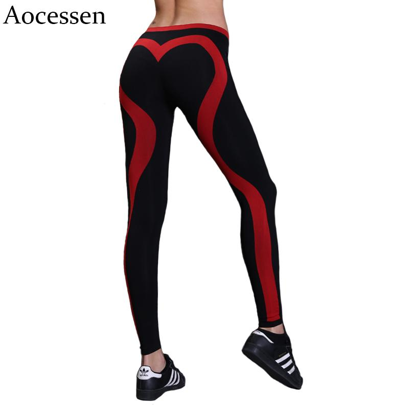 2320df384e714 2019 Aocessen Women High Waist Stretched Sport Pants Gym Clothes Heart  Shaped Running Tights Women Sports Leggings Fitness Yoga Pants From  Bingquanwat, ...