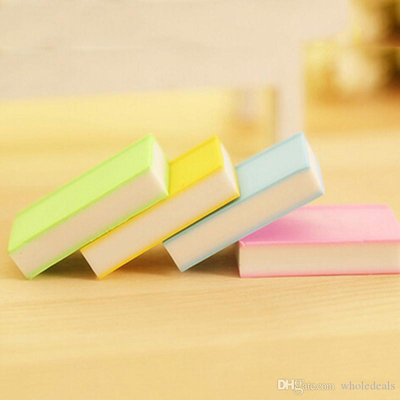 /Pack Book Style Eraser School Office Learning Pencil Erase Stationery Supplies for Kids Gifts Color Random