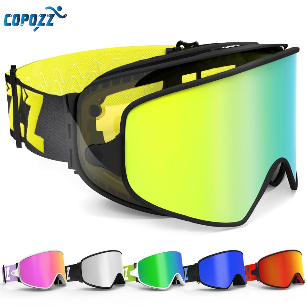 cafd2d158f39 COPOZZ Ski Goggles 2 in 1 with Magnetic Dual-use Lens for Night ...