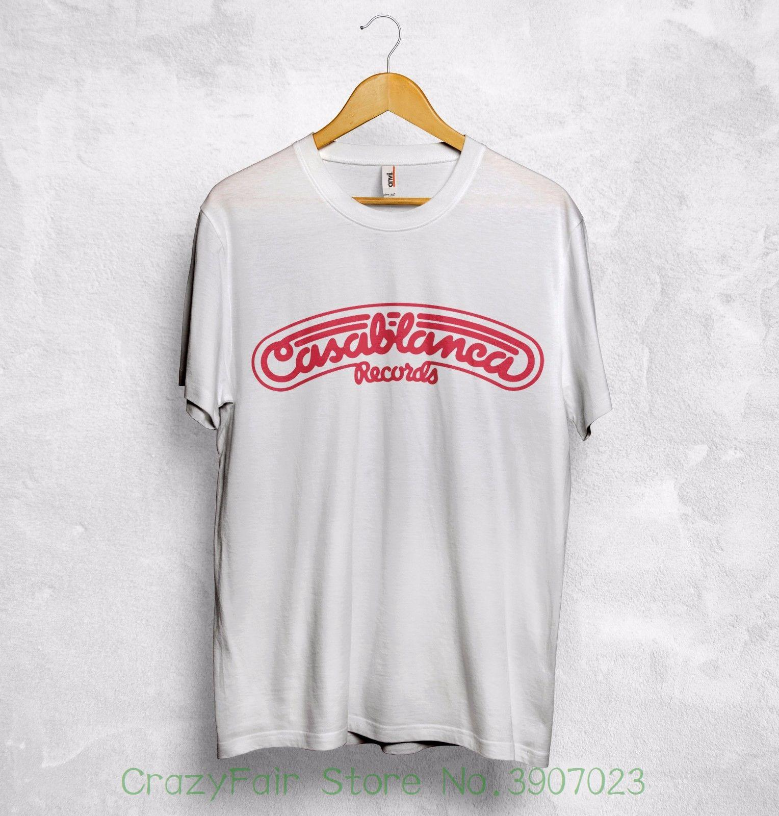 7c159245373 Casablanca Records T Shirt Top Kiss Donna Summer Lipps Parliament Music  Rock Print T Shirt O Neck Short Design Own T Shirt T Shirt Making From ...