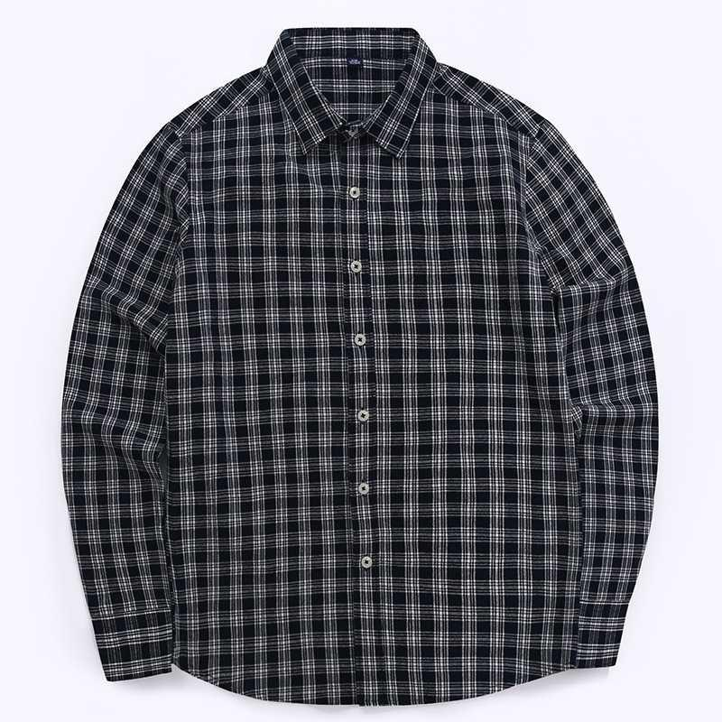 04daccdb Quality Men's 100% Cotton Casual Plaid Dress Shirts Long Sleeve Button Down  Slim Fit Comfortable Shirt Leisure Styles Tops Shirt