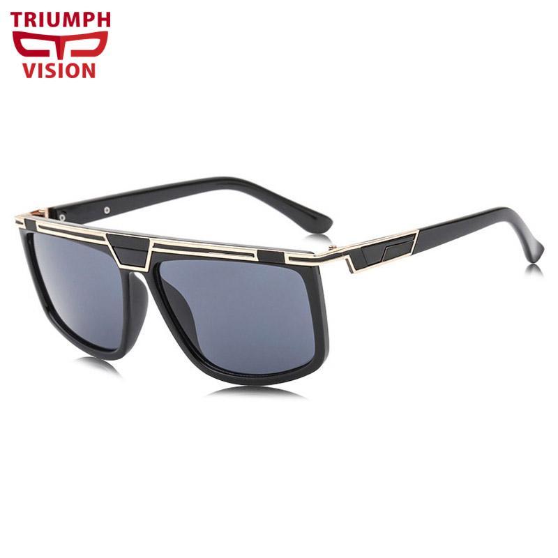 984cad0147e47 Compre Triumph Visão Cool Design Mens Shades Óculos De Sol Plana Top  Gradiente Masculino Óculos De Sol Óculos De Proteção Uv400 Óculos De Sol  Para Homens De ...