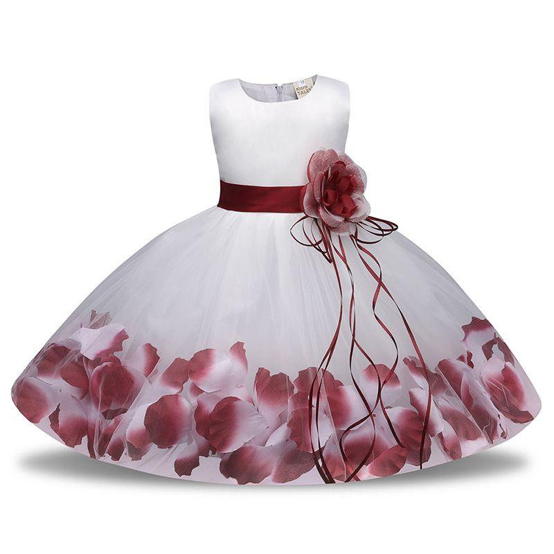compre 0 5 años ropa semi formal rosa azul rojo borgoña y niña flor