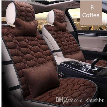 Vuniversal Autu Car Seat Covers Set Faux Fur Cute Interior Accessories Cushion Styling Winter New Plush Warm For Automobiles