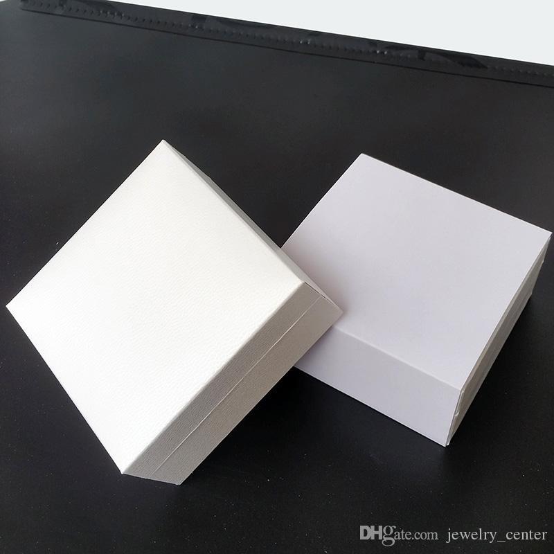 Vente en gros en gros Bijoux blancs emballage Boîtes d'origine pour Bracelet Pandora Velvet Noir Colliers originaux Boucles d'oreilles Afficher la boîte de bijoux