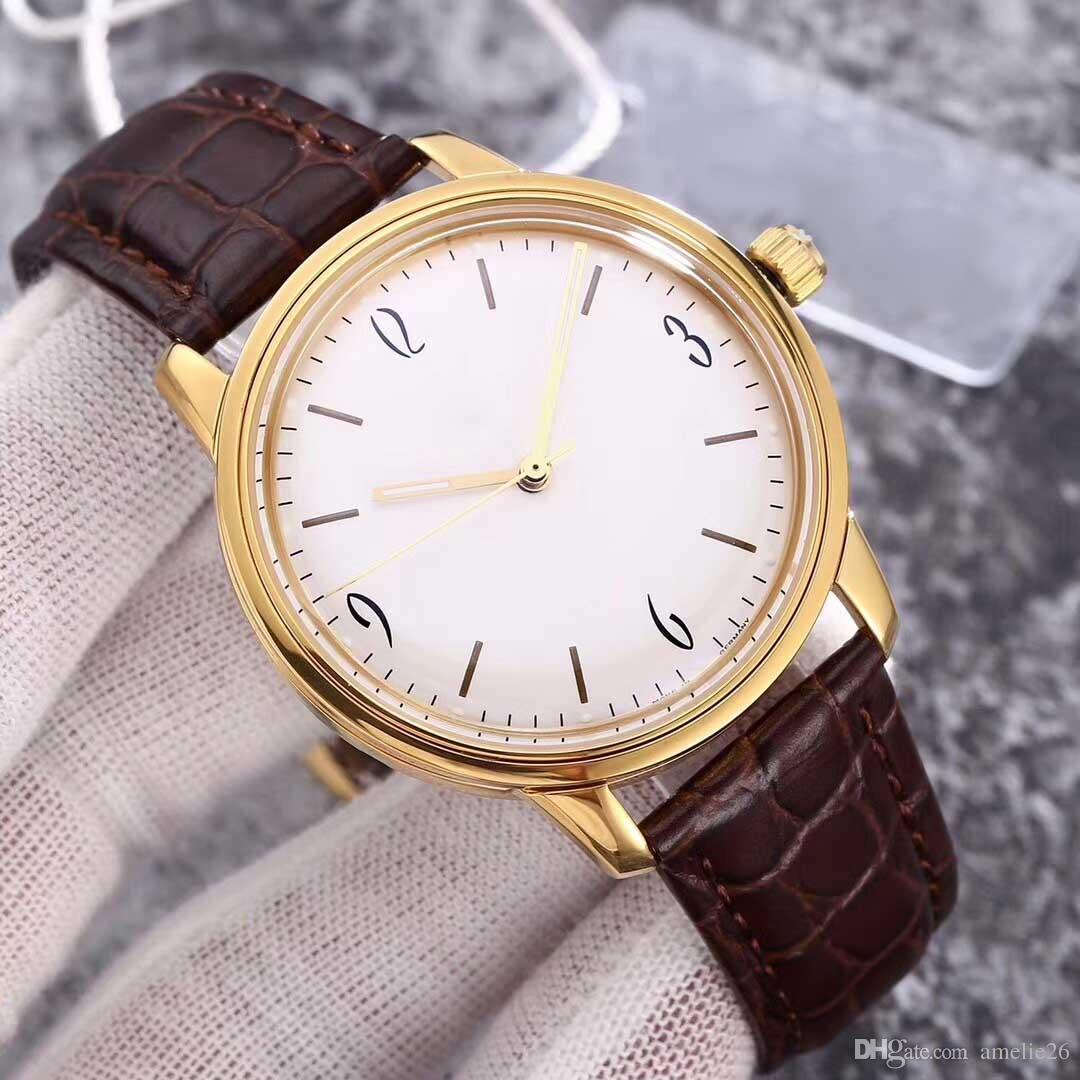 Chegada nova alta qualidade relógios de aço inoxidável homens relógios de pulso de couro automático para o homem relógio mecânico super presente