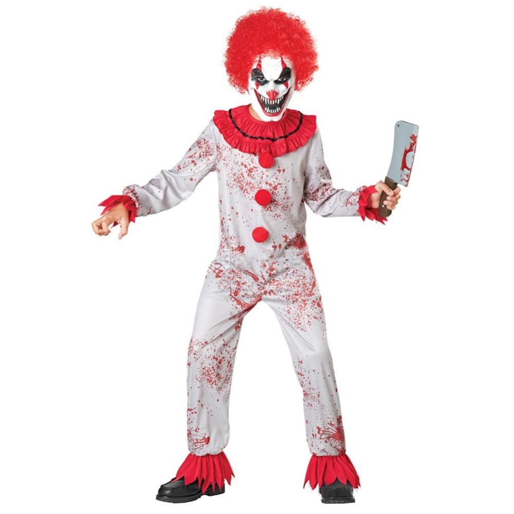 halloween kids horror clown blood costume stage performance joker
