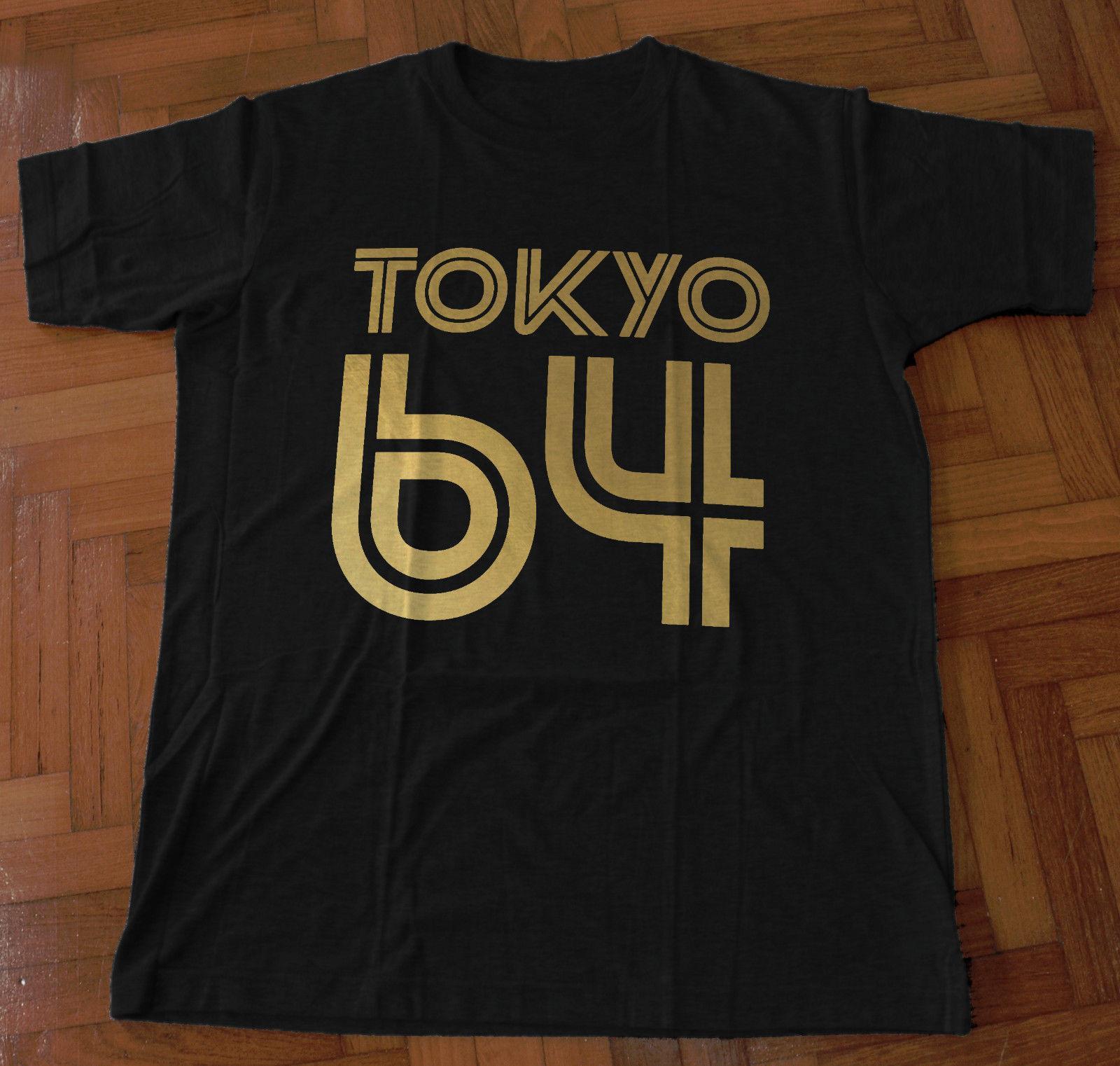 Tokyo 64 Gold Foil Design Ringspun Cotton T Shirt Goth Designer