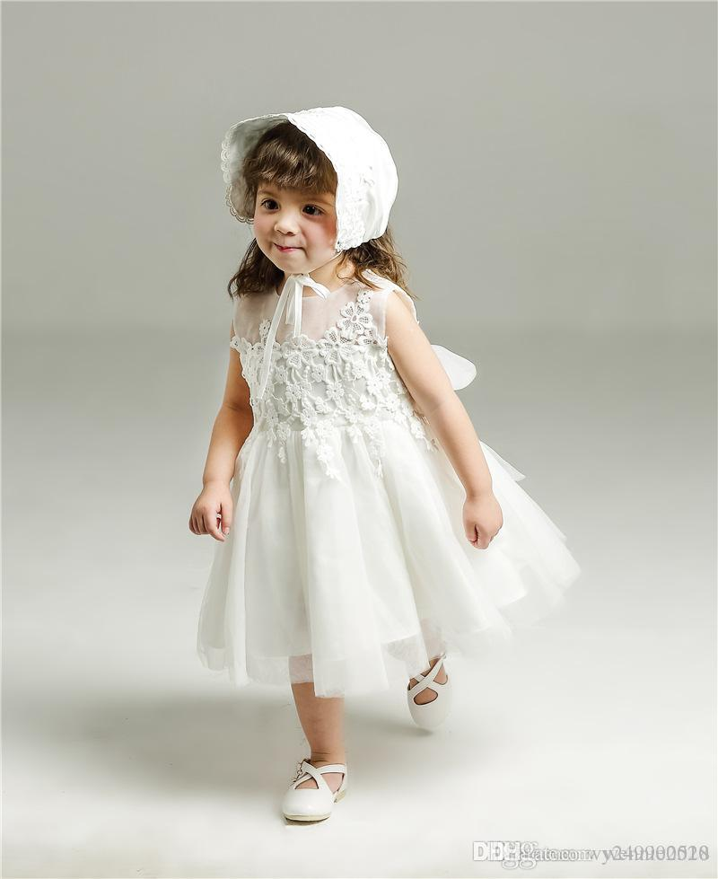 e97cc290e612 Wholesale Baby Full Moon 1 Year Old Birthday Dress Girl Bow Girl Princess  Wedding Dress Size 3M-24M Baby Dress Online with $32.0/Piece on  Wennie2018's Store ...