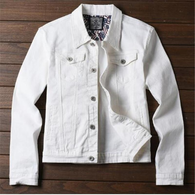 f940b0469c0b5f Großhandel 2018 Neue Frühling Herbst Winter Jeansjacke Männer Mode  Streetwear Jeans Weiße Jacke Baumwolle Von Xinpiao, $76.59 Auf  De.Dhgate.Com   Dhgate