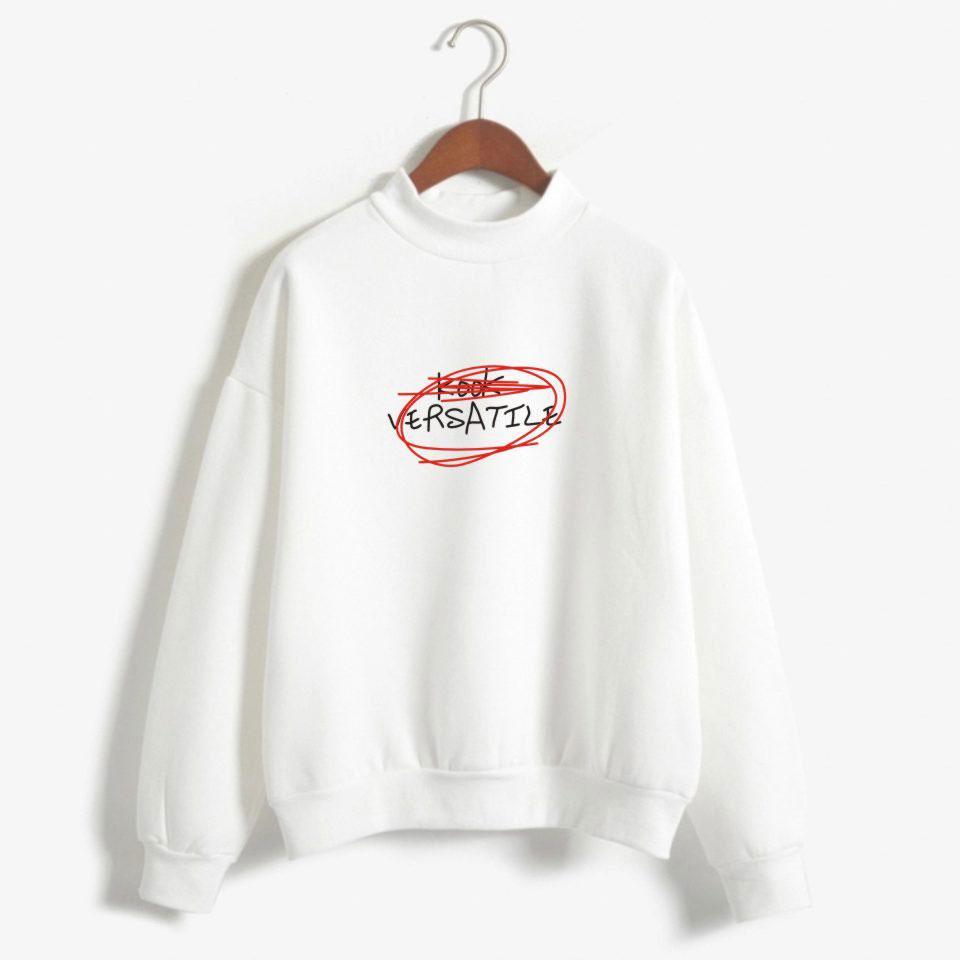 Exo Graffiti Letters Kook Versatile Womens Turtleneck Hoo S Women Mens Harajuku Hip Hop Autumn Sweatshirt Cotton Coats From Karel   Dhgate